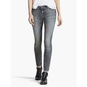 Lucky Brand Gray Brooke Mid Rise Skinny Jeans